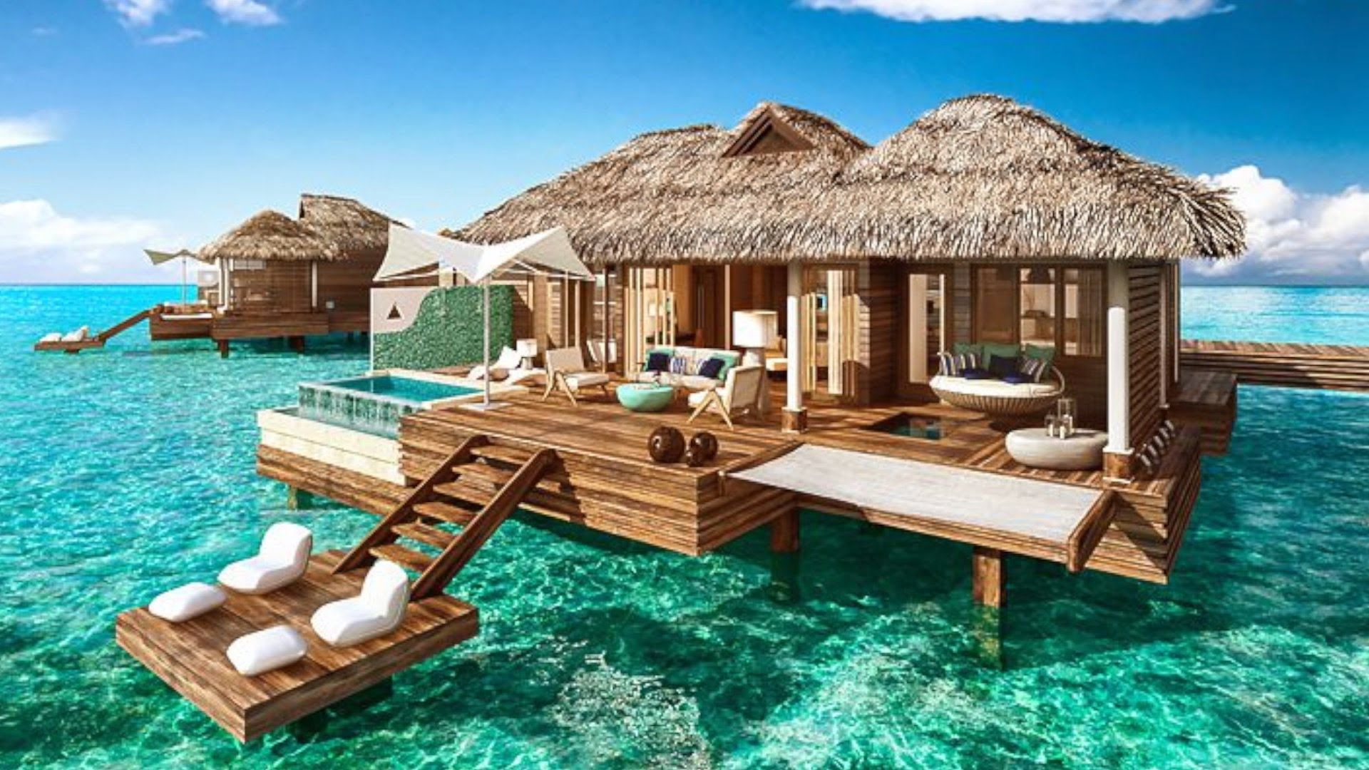 New Sandals Over Water Bungalows World Travel Sisters